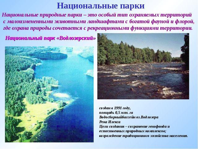 Национальные парки Национальные природные парки – это особый тип охраняемых т...