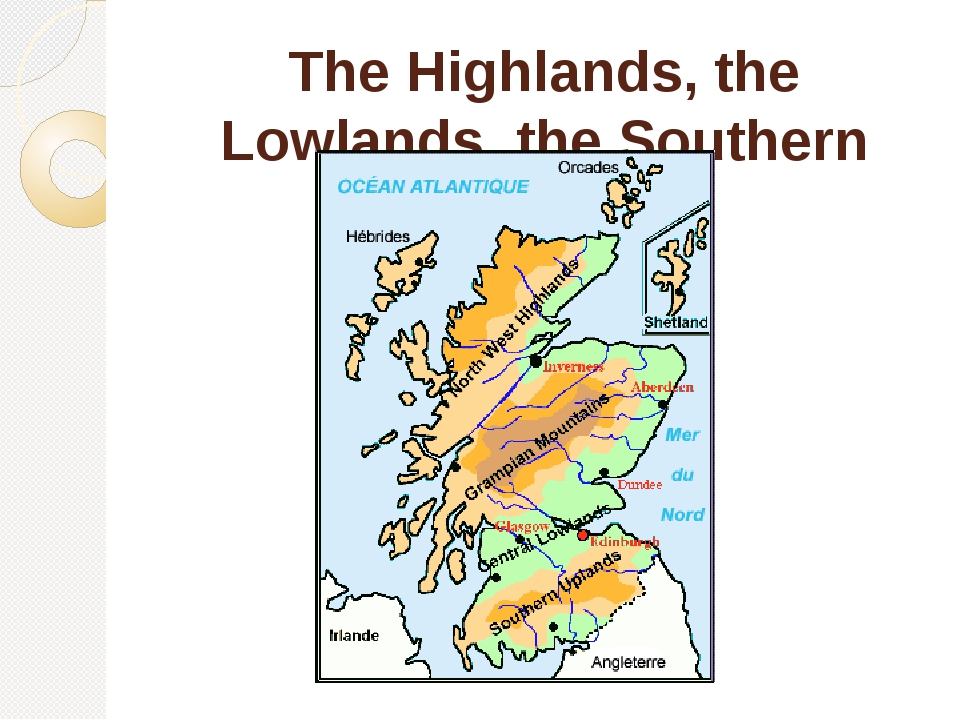 The Highlands, the Lowlands, the Southern Uplands