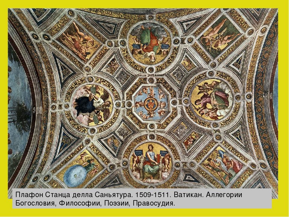 Плафон Станца делла Саньятура. 1509-1511. Ватикан. Аллегории Богословия, Фило...