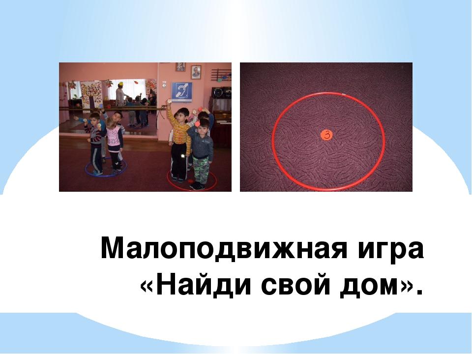 Малоподвижная игра «Найди свой дом».
