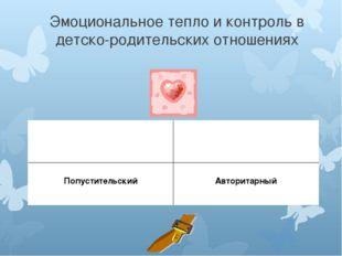 Эмоциональное тепло и контроль в детско-родительских отношениях Демократичный