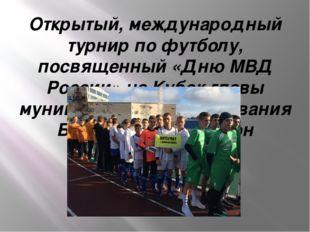 Открытый, международный турнир по футболу, посвященный «Дню МВД России» на Ку