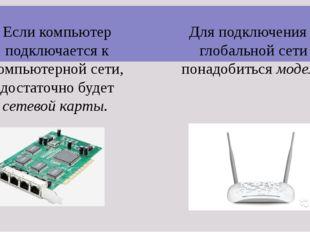 Если компьютер подключается к компьютерной сети, достаточно будет сетевой кар
