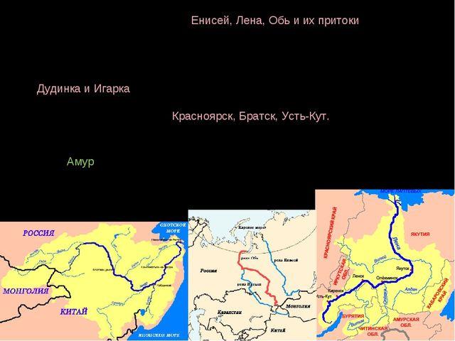 В Сибири основные реки — Енисей, Лена, Обь и их притоки. Все они используются...