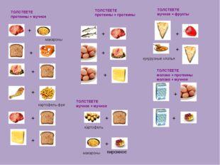 ТОЛСТЕЕТЕ протеины + мучное макароны картофель фри ТОЛСТЕЕТЕ протеины + проте