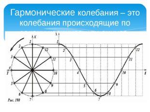 Гармонические колебания – это колебания происходящие по закону косинуса или с