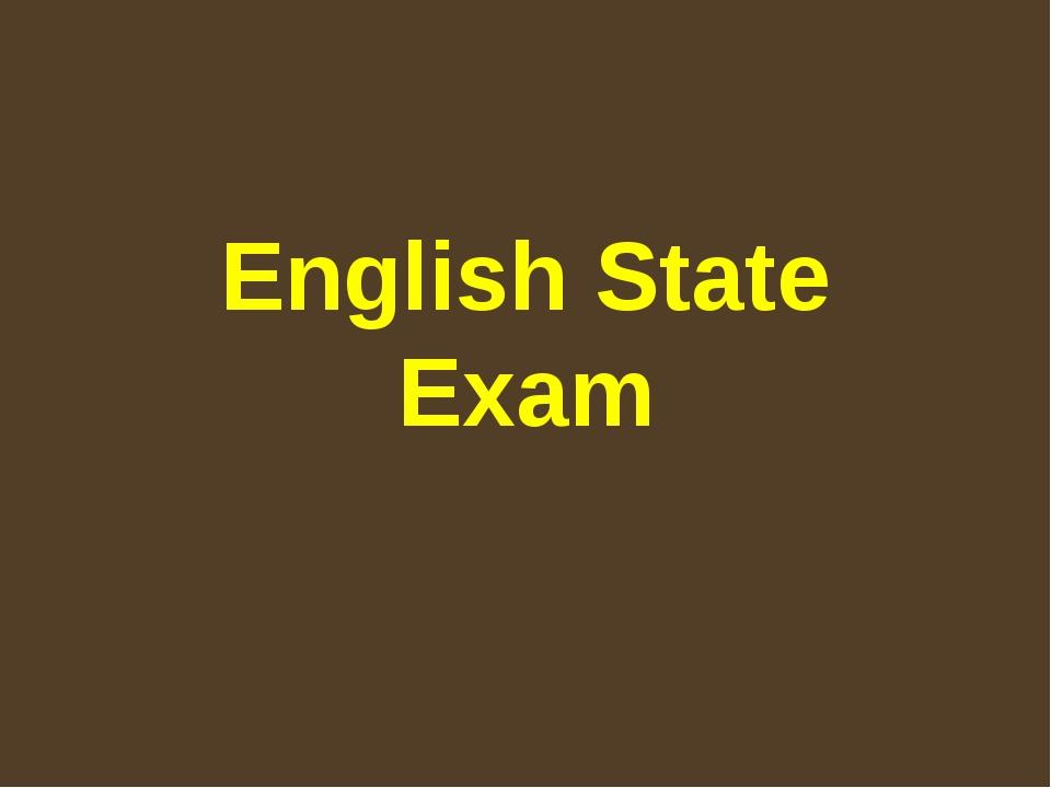 English State Exam