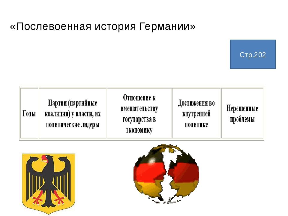 «Послевоенная история Германии» Стр.202