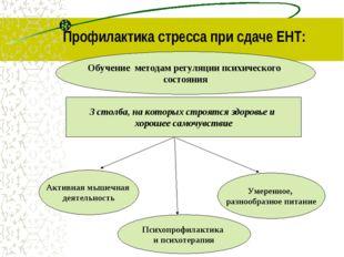 Профилактика стресса при сдаче ЕНТ: Обучение методам регуляции психического с