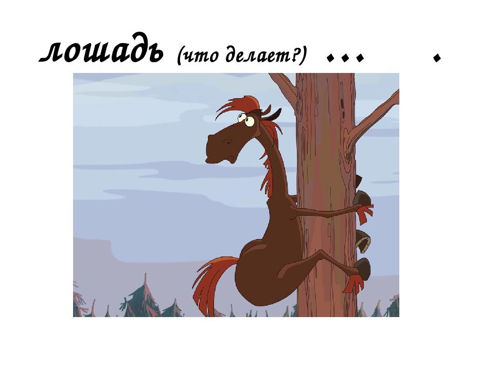 лошадь (что делает?) … .