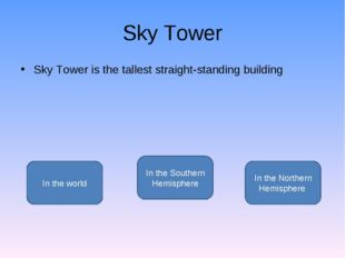 Sky Tower Sky Tower is the tallest straight-standing building In the Southern