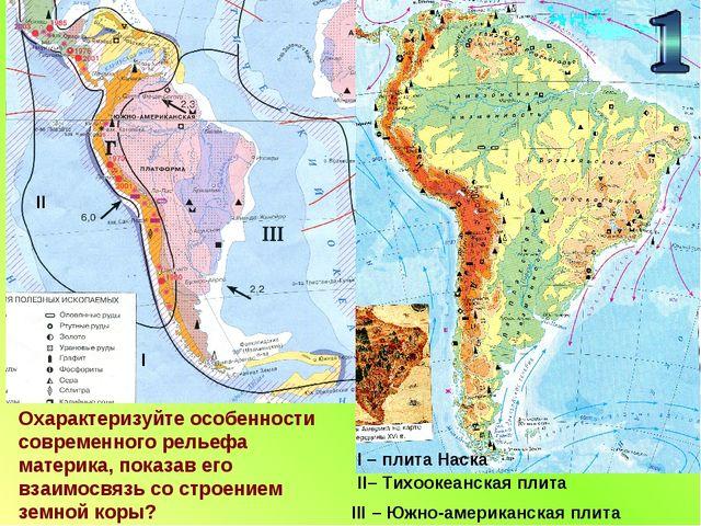 ll l ll– Тихоокеанская плита lll – Южно-американская плита l – плита Наска Ох...