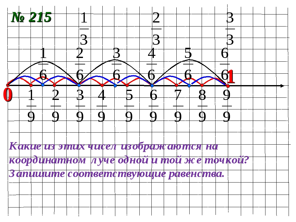 0 1 Какие из этих чисел изображаются на координатном луче одной и той же точк...