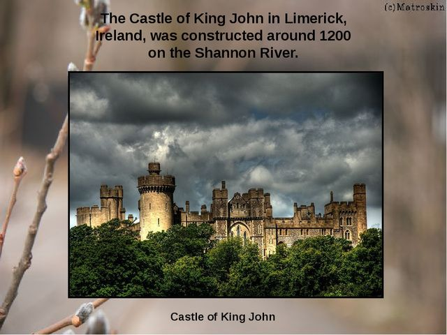 Castle of King John The Castle of King John in Limerick, Ireland, was constru...