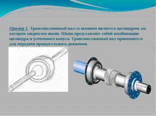 Пример 1. Трансмиссионный вал со шкивом является цилиндром, на котором закре
