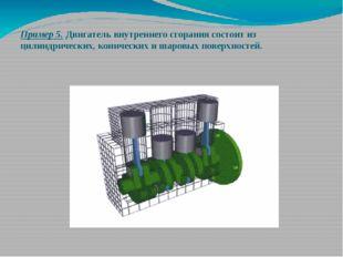 Пример 5. Двигатель внутреннего сгорания состоит из цилиндрических, конически