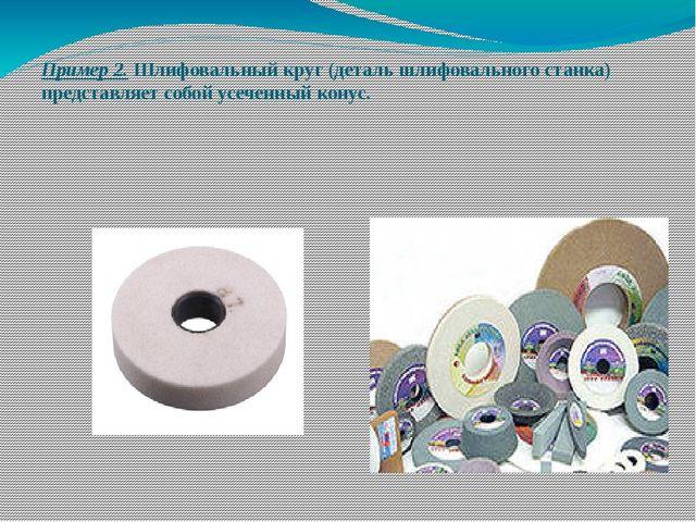 Пример 2. Шлифовальный круг (деталь шлифовального станка) представляет собой...