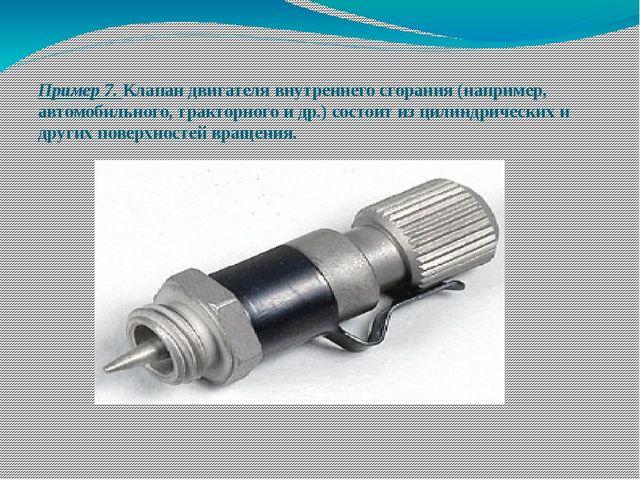 Пример 7. Клапан двигателя внутреннего сгорания (например, автомобильного, тр...