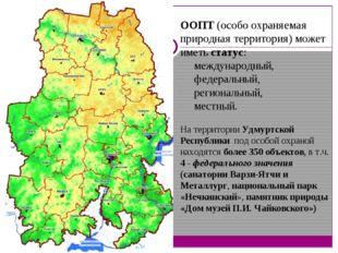 ООПТ (особо охраняемая природная территория) может иметь статус: международны