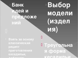 Банк идей и предложений  Взять за основу классический рецепт приготовления