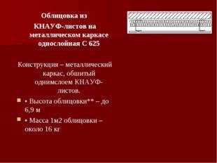 Облицовка из КНАУФ-листов на металлическом каркасе однослойная С 625 Конструк