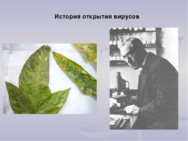 История открытия вирусов