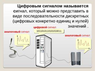 * Цифровым сигналом называется сигнал, который можно представить в виде после