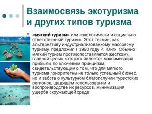 Взаимосвязь экотуризма и других типов туризма «мягкий туризм» или «экологичес