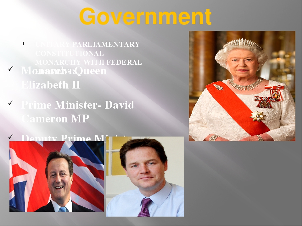 Government UNITARY PARLIAMENTARY CONSTITUTIONAL MONARCHY WITH FEDERAL ELEMENT...