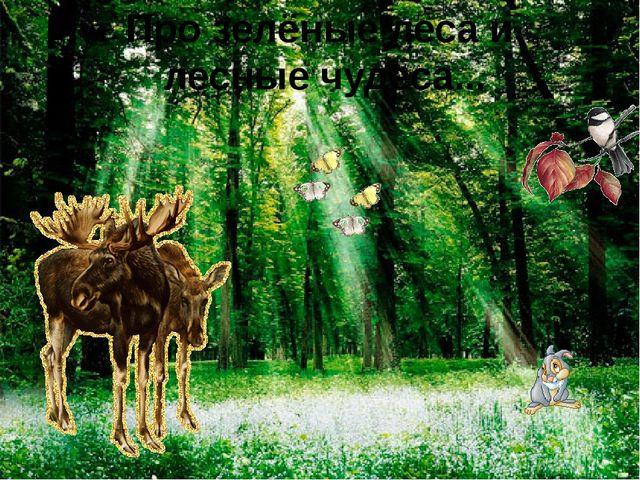 Про зелёные леса и лесные чудеса...