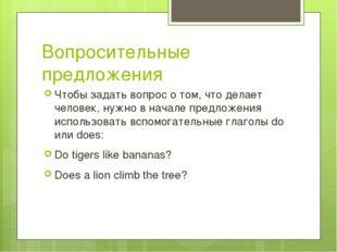 Вопросительные предложения Чтобы задать вопрос о том, что делает человек, нуж