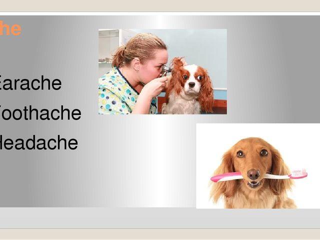 Ache Earache Toothache Headache