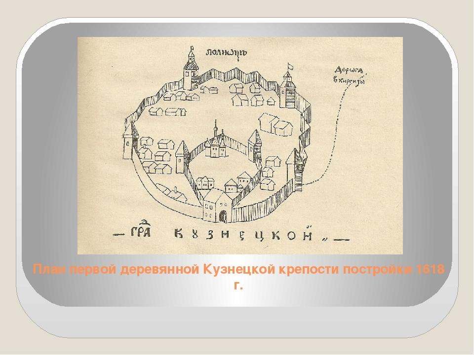 План первой деревянной Кузнецкой крепости постройки 1618 г.