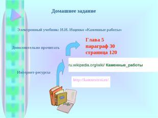 Домашнее задание Глава 5 параграф 30 страница 120 Дополнительно прочитать Эле
