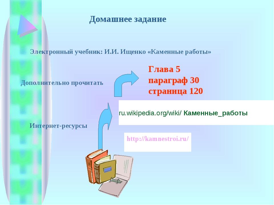 Домашнее задание Глава 5 параграф 30 страница 120 Дополнительно прочитать Эле...