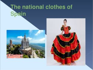 The national сlothes of Spain