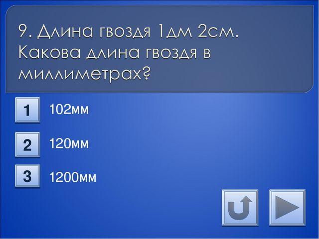 102мм 120мм 1200мм 1 2 3