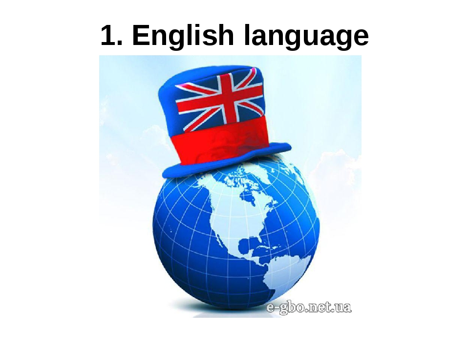 1. English language