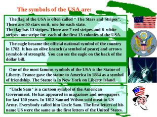 """The flag of the USA is often called """" The Stars and Stripes"""". There are 50 s"""