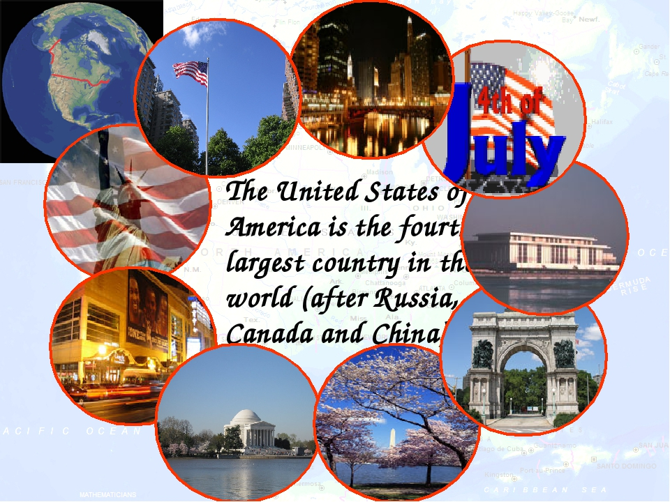 The United States of America is the fourth largest country in the world (aft...