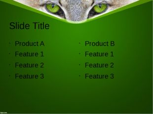 Slide Title Product A Feature 1 Feature 2 Feature 3 Product B Feature 1 Featu