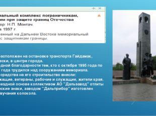 Памятник расположен на остановке транспорта Гайдамак, географически, в центр