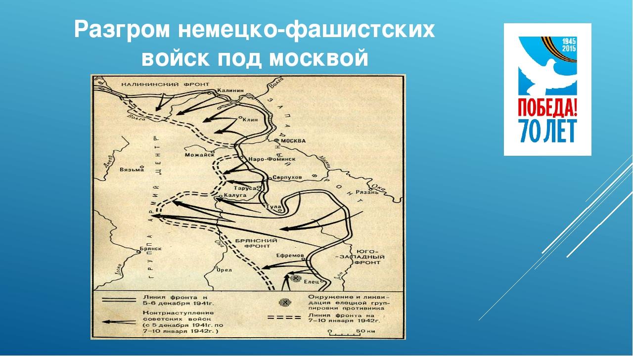 Разгром немецко-фашистских войск под москвой