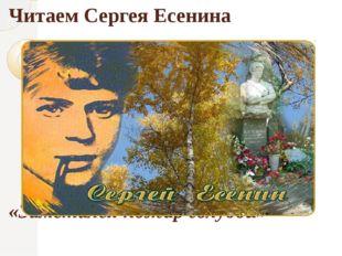Читаем Сергея Есенина «Заметался пожар голубой»