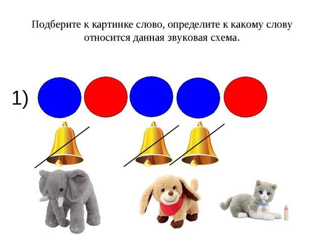 1) Подберите к картинке слово, определите к какому слову относится данная зву...