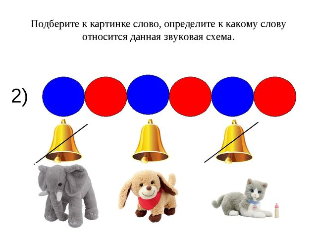2) Подберите к картинке слово, определите к какому слову относится данная зву...