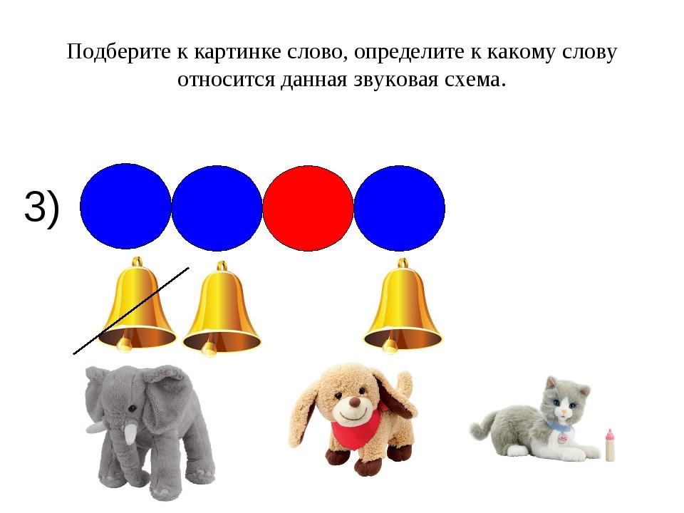 3) Подберите к картинке слово, определите к какому слову относится данная зву...