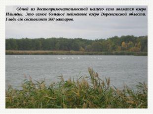 Одной из достопримечательностей нашего села является озеро Ильмень. Это само