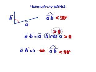 cos  > 0 > 0 Частный случай №2