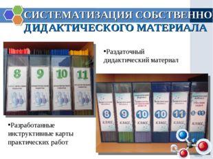 СИСТЕМАТИЗАЦИЯ СОБСТВЕННОГО ДИДАКТИЧЕСКОГО МАТЕРИАЛА Разработанные инструктив